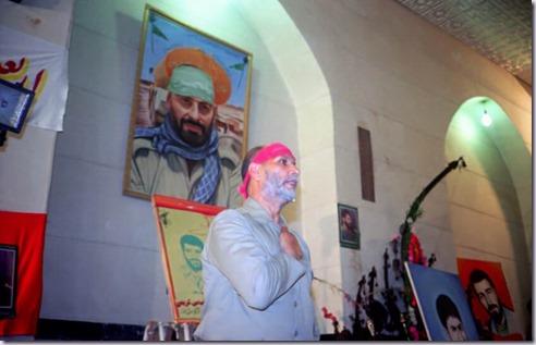 مرحوم حاجی بخشی در تشییع جنازه حاج عباس کریمی فرمانده لشگر